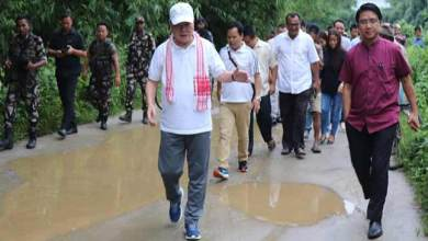 Photo of Arunachal:  Nabam Rebia Visits flood hits Hollongi Patila village