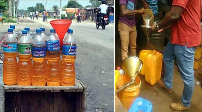 Arunachal: Vendors are illegally selling fuel at roadside outlets