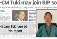 Photo of Arunachal: Nabam Tuki denied any move to join BJP