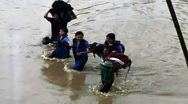 Arunachal: Flash flood hits Nirjuli