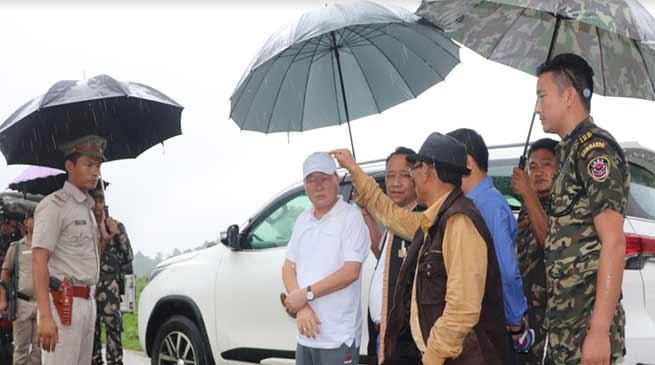 Arunachal: Nabam Rebia visits Dollungmukh Bombing zone