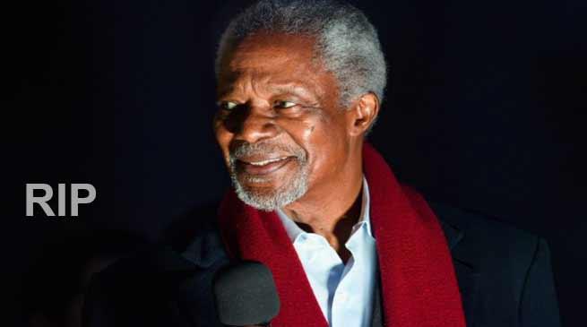 Kofi Annan, former UN Secretary-General dies