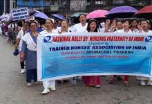 Itanagar: TNAI takes out procession in support of their of demand
