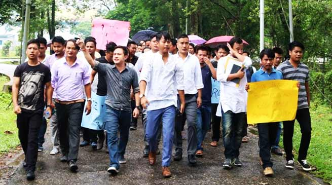Arunachal: Rally for Regular VC at RGU