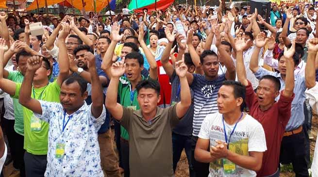 Itanagar:SSA Teacher's Dharna end,non cooperation strike from 16th Aug