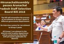 Photo of Assembly passes Arunachal Pradesh staff selection board bill-2018