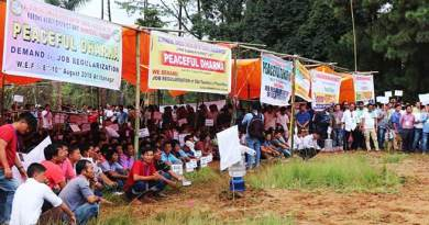 Itanagar:SSA teachers begins 3 days Dharna