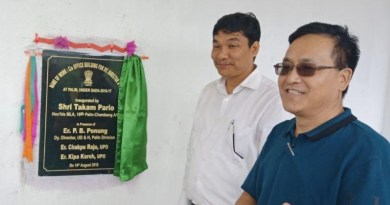 Arunachal: Pario inaugurates UD office at Plain,  community hall at Sangram village