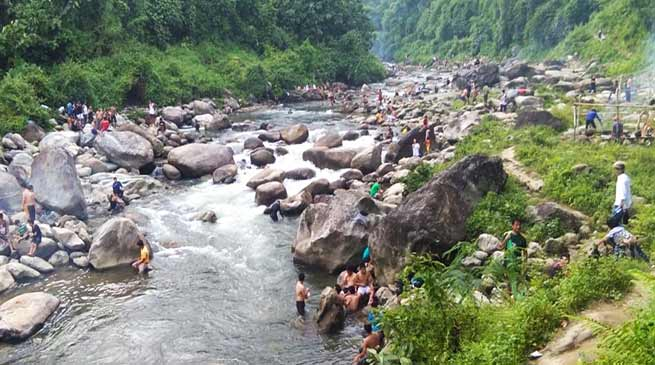Itanagar: locals demand ban on bathing and picnic near WTP in Senki river