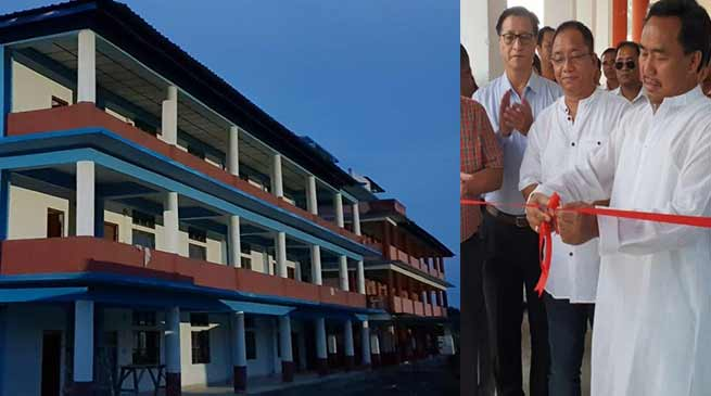 Itanagar : Honchun Ngandam inaugurates Shikshak Bhawan and academic block of the DNGC