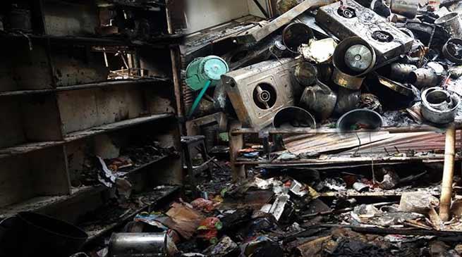 Arunachal: Massive fire at Bordumsa, seven shops gutted