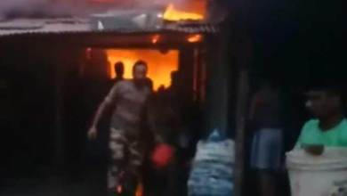 Photo of Arunachal: Massive fire at Bordumsa, seven shops gutted