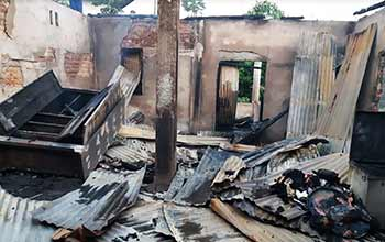 Itanagar : One house burnt to ashes in Chimpu