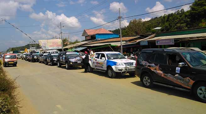 Arunachal:  IFCRA car rally proceeds  from Laos to Bangkok