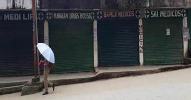 Arunachal: 1600 pharmacies were on shutdown today to protest against e-pharmacy