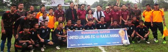 Arunachal:11th T Chai Memorial Running Football Tournament 2018 kicks off