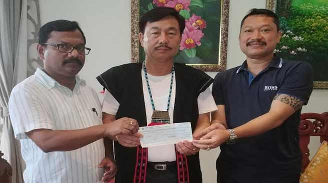 Arunachal: Aditya Mein donates Rs 10 lakhs to Kerala flood victims