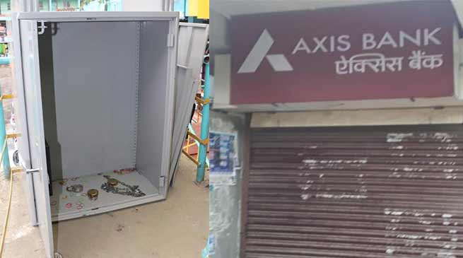 Arunachal: Miscreants try to loot SBI in Ganga, Vandalised Axis bank ATM