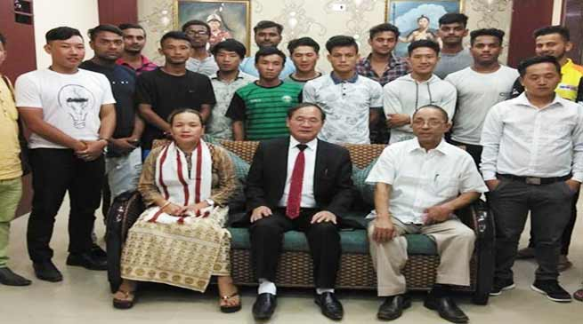Itanagar: Tuki congratulates Arunachal cricket team