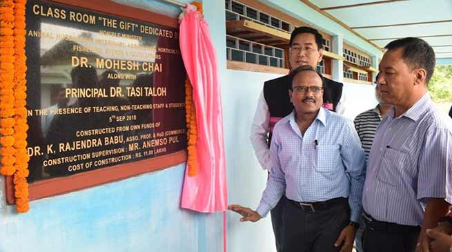 Arunachal: professor gifts classroom to IGG college at a cost of 11 lakh