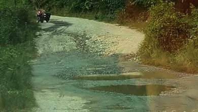 Photo of Itanagar:A road becomes an obstacle between players and the game