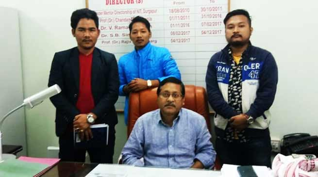 Arunachal:  AAPSU leader meet NIT Director