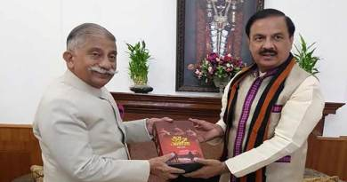 Arunachal Governor meets Union Cultural Minister of State