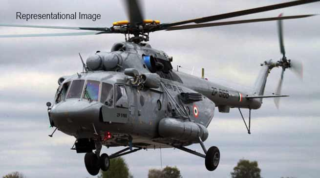 Arunachal:  IAF's Mi-17 chopper force-lands in Tuting, all 16 people on board safe