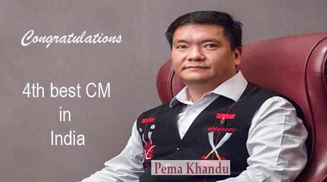 Arunachal CM Pema Khandu is 4th best among 23 CM
