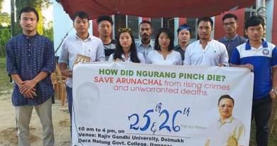 Arunachal: RGU campaign- 'Justice for Ngurang Pinch'