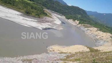 Photo of Arunachal: Another landslide on Siang, water level drop at Tuting