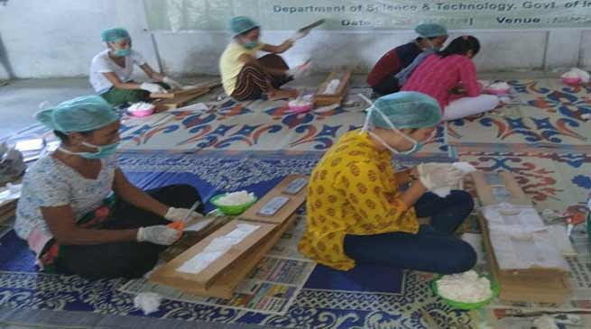 Arunachal:  Training and workshop on  Sanitary Napkin production