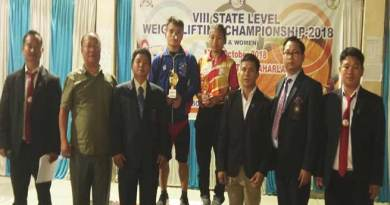 Arunachal: 8th State Level Weightlifting Championship-2018 concludes