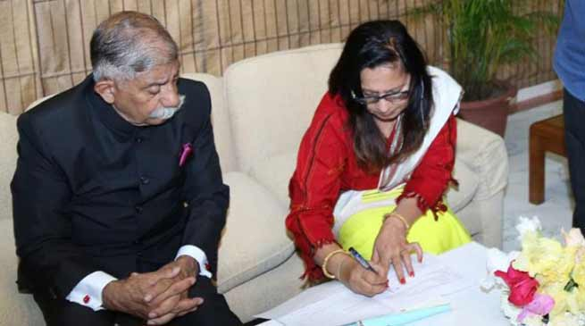 Arunachal Governor register himself in the State Electoral Roll