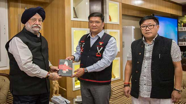 Arunachal: Union Minister of State Hardeep Singh Puri called on CM Pema Khandu