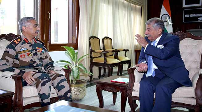 Arunachal:Army Commander calls on the Governor