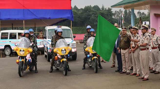 Itanagar: DGP flagged off patrolling vehicle for capital police