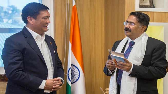 Itanagar : RJU VC calls on CM