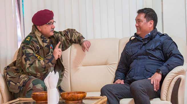 CM discusses Job opportunities for Arunachali youth in Army