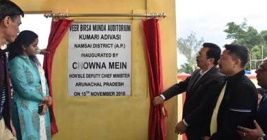 Arunachal: Mein dedicates Veer Birsa Munda Auditorium to the people of Kumari Adivasi Village in Lekang