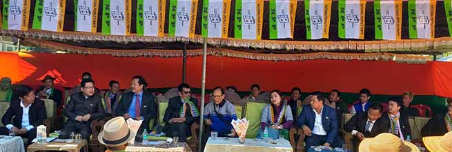 Arunachal: Gicho Kabak inaugurates NPP office at Aalo