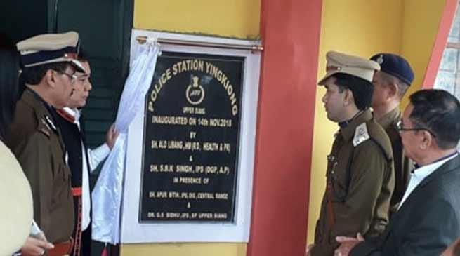 Arunachal: Libang inaugurates New Yingkiong Police Station Building