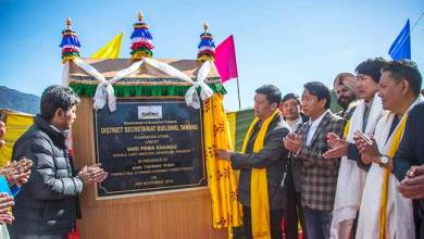 Photo of Arunachal: Khandu lays foundation stone for Tawang district secretariat building