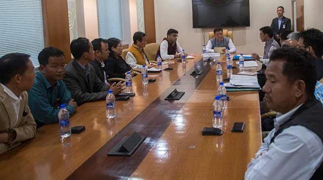 Arunachal: CoSAAP suspends non-cooperation movement after meeting with CM