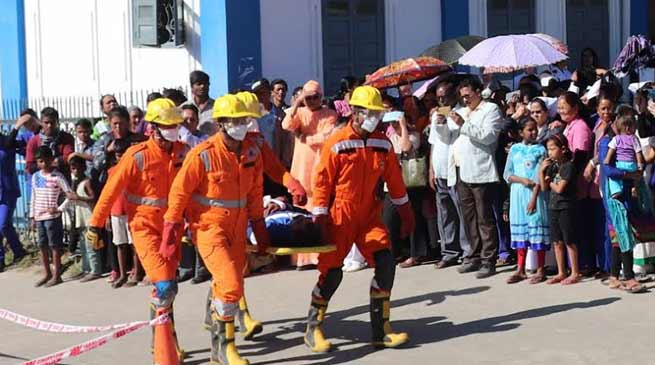 Itanagar: NDRF team conducts mock drill, relief and rescue operation