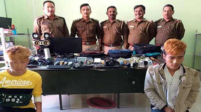 Arunachal: Itanagar police arrested two persons, recovered huge stolen items