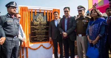 Itanagar: Khandu lays foundation stone of 12 NDRF Bn HQ at Hollongi