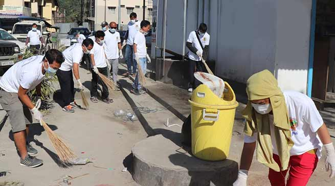 Arunachal:APACC conductsmass cleanliness drive at TRIHMS campus