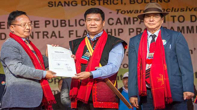 Arunachal:Khandu declares Siang district functioning