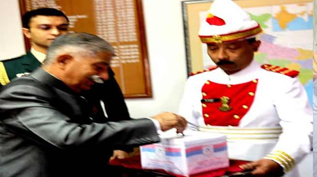 Arunachal Governor, Ministers and officials of Raj Bhavan donate towards Armed Forces Flag Day